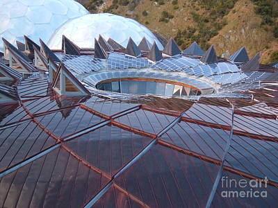 Photograph - Core Roof Eden Project by Richard Brookes