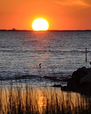 James Lewis Photograph - Core Sound Sunset by James Lewis