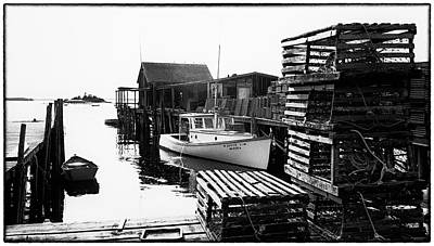 Photograph - Corea Harbor Maine 1973 by Marty Saccone