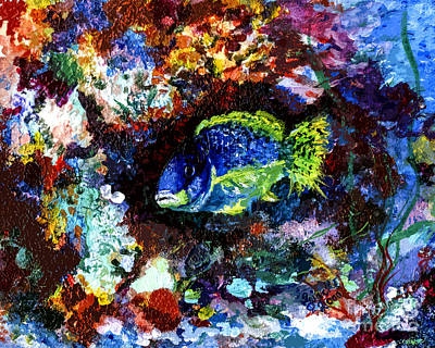 Painting - Coral Reef Life In The Ocean by Ginette Callaway