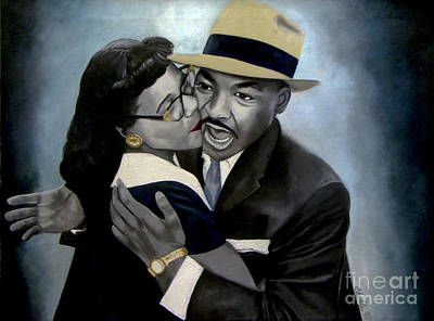Painting - Coretta And Martin by Chelle Brantley
