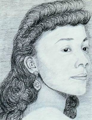 Drawing - Coretta Scott King by Karen Buford
