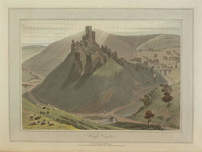 Corfe Castle Art Print by British Library