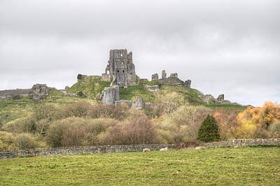 Photograph - Corfe Castle by Chris Day