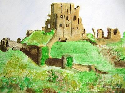 Painting - Corfe Castle by Denise Railey