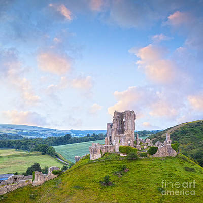 Photograph - Corfe Castle Dorset England by Colin and Linda McKie