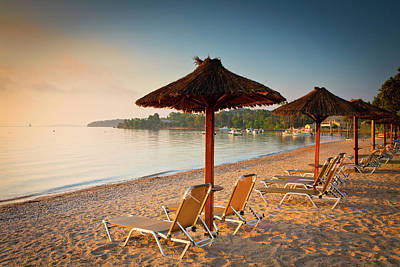 Lounge Chair Photograph - Corfu Beach by Letty17
