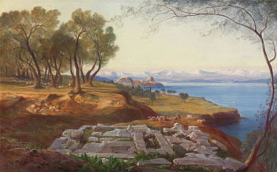 Corfu Painting - Corfu From Ascension by Edward Lear