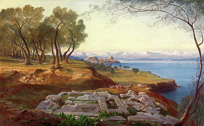 Corfu Painting - Corfu From Ascension Signed, Edward Lear by Litz Collection
