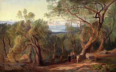 Corfu Painting - Corfu From Santa Decca, Edward Lear, 1812-1888 by Litz Collection