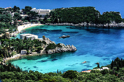Corfu Photograph - Corfu, Greece Aerial View Of Beach by Jolly Sienda