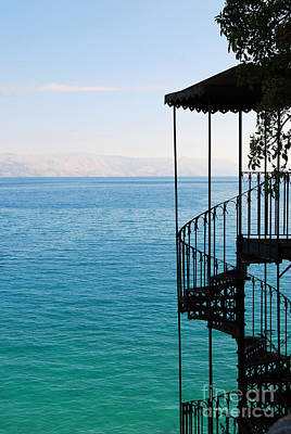 Photograph - Corfu Greece Steps To The Beautiful Water by Eva Kaufman