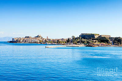 Photograph - Corfu Town From The Sea by Paul Cowan