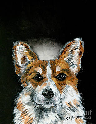 Painting - Corgi Angel by Jay  Schmetz