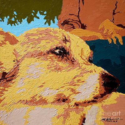 Painting - Corgi Face V.4 by Max Yamada