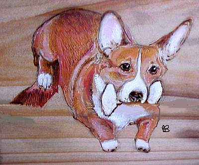 Corgi Jump Art Print by Jeanie Beline