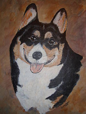 Corgy Art Print by Sandie Keyser