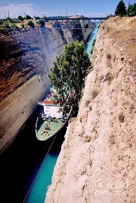 Architcture Photograph - Corinth Canal Greece by John Malone