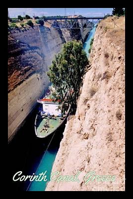 Architcture Photograph - Corinth Canal Poster by John Malone