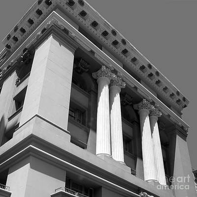 Photograph - Corinthian Columns - Classical Architecture San Francisco by Connie Fox