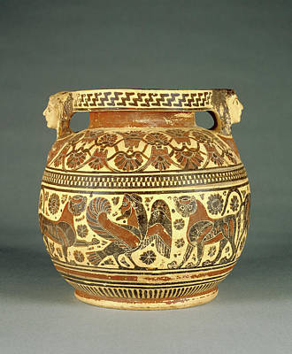 Perhaps Painting - Corinthian Round-bodied Pyxis Perhaps By The Chimaera by Litz Collection
