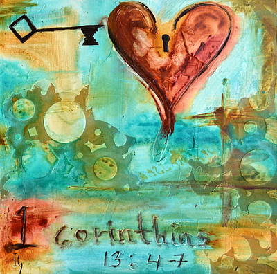 Family Love Painting - 1 Corinthians 13 by Ivan Guaderrama