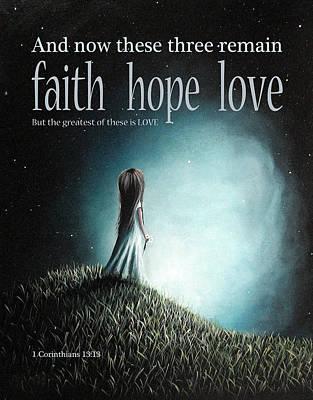 Teen Licensing Painting - Corinthians Inspirational Bible Verses by Shawna Erback