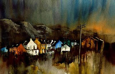 Painting - Cork 2 Allihies Village Beara Cork by Val Byrne