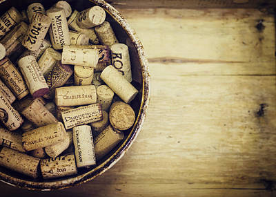 Vintage Wine Lovers Photograph - Cork Collection by Heather Applegate