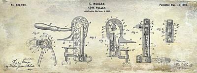 Cork Puller Patent 1899 Art Print