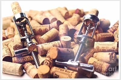 Corks And Corkscrews  Art Print by Stefano Senise