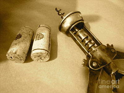 Corkscrew Duet Art Print by Cathy Dee Janes