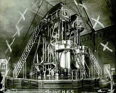 Corliss Exhibition Steam Engine Art Print