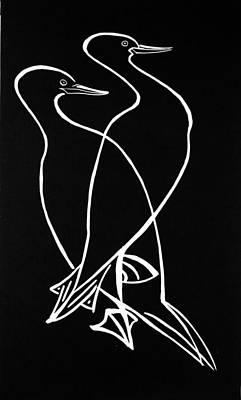 Cormorant Couple Original by Vadim Vaskovsky