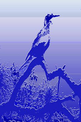 Cormorant Dk. Blue Case Art Print by Rosalie Scanlon
