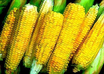 Corn Painting - Corn Com Convention by Elaine Plesser