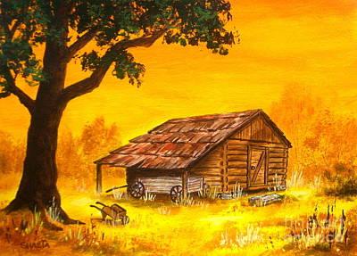 Corn  Crib  Barn Original by Shasta Eone