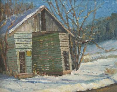 Painting - Corn Crib by Jeff Dickson