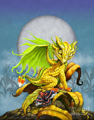 Corn Dragon Art Print