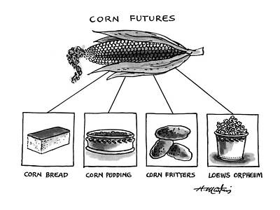 Pop Corn Drawing - Corn Furures by Henry Martin