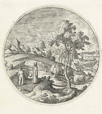 Corn Harvest, Hans Bol Art Print by Hans Bol
