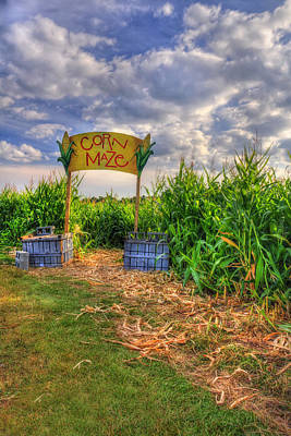 Farm Scene Photograph - Corn Maze by Joann Vitali