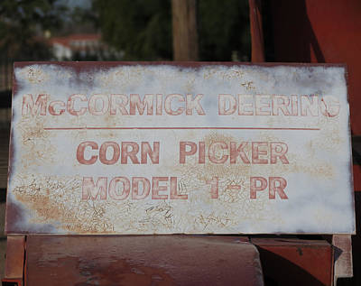 Photograph - Corn Picker by Laurel Powell