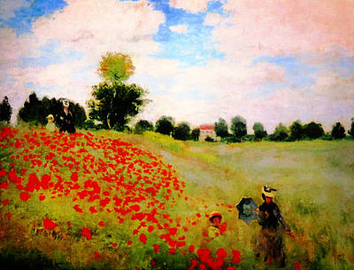 Beautiful Scenery Painting - Corn Poppy by Celestial Images
