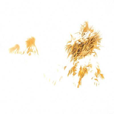Photograph - Corn Shocks In A Winter Field - Artistic by Chris Bordeleau