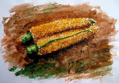 Painting - Corn by Zaira Dzhaubaeva