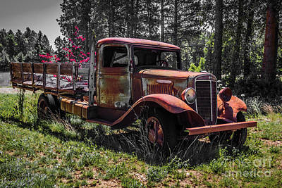 Photograph - Cornbinder Truck by Jean OKeeffe Macro Abundance Art