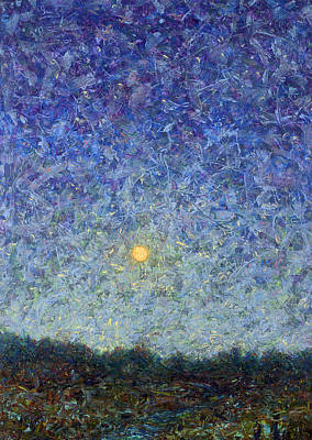Abstract Landscape Painting - Cornbread Moon by James W Johnson