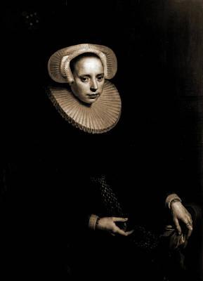 Cornelia Bruinzeels, Seated, Three-quarter Length Portrait Print by Litz Collection