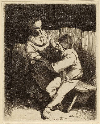 Caress Drawing - Cornelis Bega Dutch, 1631-1632 - 1664, The Refused Caress by Quint Lox